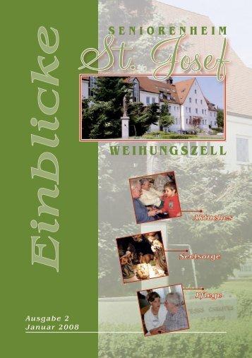 Einblicke Ausgabe 2 Jan. 2008 - Seniorenheim St.Josef ...