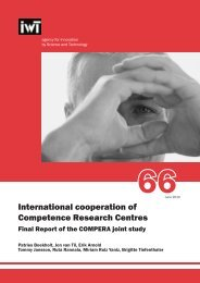 International cooperation of Competence Research Centres - Vinnova