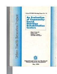 An Evaluation of Community-Based Nutrition Rehabilitation Centers