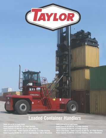 Loaded Container Handlers - Taylor Machine Works