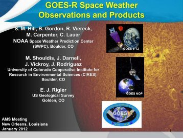 NWS and WMO Product Integration - GOES-R