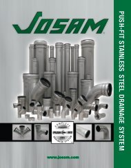 Download Josam Push–Fit Stainless Steel Catalog