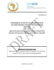 Programme of Action for the implementation of the Africa Regional ...