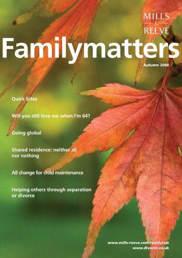 Family Matters - Autumn 2008 - Mills & Reeve