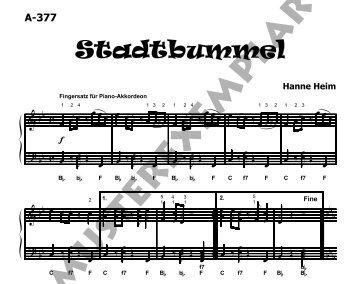 Notenansicht - Akkordeon Musik Edition
