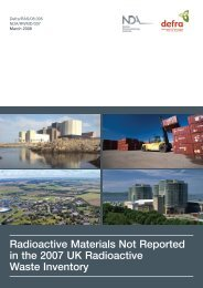 NDA/Defra Radioactive Materials Not Reported in ... - Nuclear Liaison