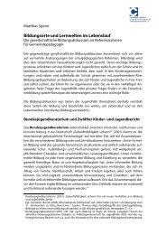 Bildungsorte und Lernwelten im Lebenslauf (PDF) - Comenius-Institut