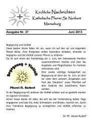 Ausgabe Nr. 37, Juni 2013 ( PDF -Datei, 616 kB) - Katholische ...