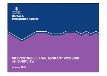 PREVENTING ILLEGAL MIGRANT WORKING AN OVERVIEW