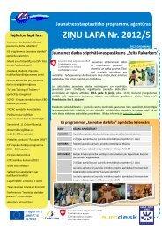 Nr.5. (2012. gada maijs) - Jaunatnes starptautisko programmu ...