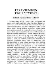 PARANTUMISEN EDELLYTYKSET - Pekka Ervast