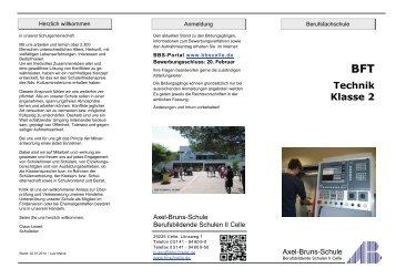 Zweijährige Berufsfachschule Technik, Klasse 2 - BBS-Portal