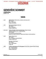GENEVIÈVE SCHMIDT - Agence Goodwin