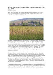 White Burgundy 2011 vintage report: Jeannie Cho ... - Asian Palate