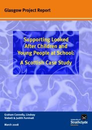 Supporting Looked After Children and Young People at School: A ...