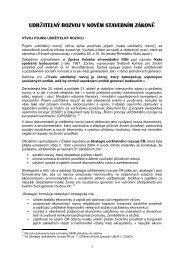 udržitelný rozvoj v novém stavebním zákoně - Ústav územního rozvoje