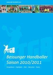 Saisonheft 2010/2011 - TGB 1865 Darmstadt
