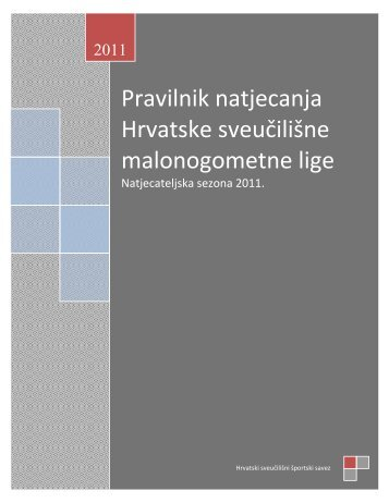 Pravilnik natjecanja Hrvatske sveučilišne malonogometne lige