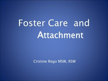 Foster Care and - EENet