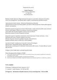 Calcolo Numerico - Paternoster - DMI