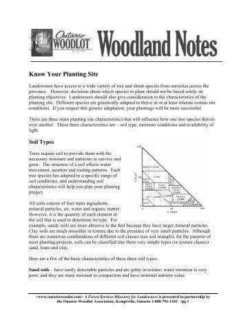 Know Your Planting Site - Ontario woodlot.com