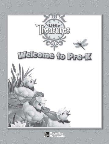 Welcome to Pre-K - Treasures - Macmillan/McGraw-Hill