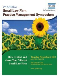 Small Law Firm Practice Management Symposium - New York City ...