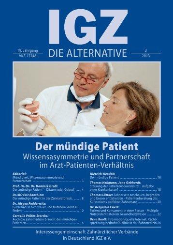 Ausgabe 3-2013 - IGZ