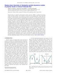 Stedy shear rheometry of DDP models of polymer fluids in reverse ...