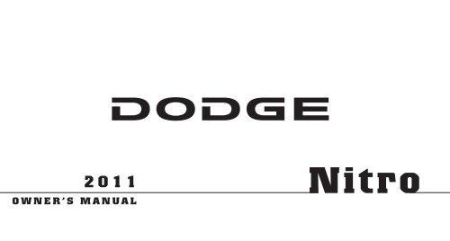 2011 dodge nitro owners manual