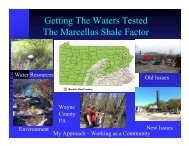 Getting The Waters Tested The Marcellus Shale Factor - Center for ...
