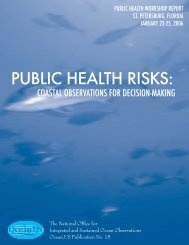 public health risks - Interagency Ocean Observation Committee (IOOC)