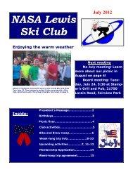 Newsletter, July 2012 - Lewis Ski Club