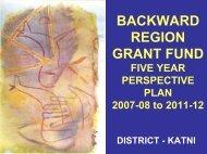 Katni BRGF District Plan 2007-12 - nrcddp