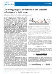 Observing angular deviations in the specular reflection of a light beam
