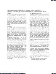 Wave equation imaging comparisons: Survey ... - Sigmacubed.com