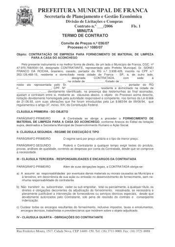 Minuta Contrato - Material Limpeza Casa Aconchego - 1080 07