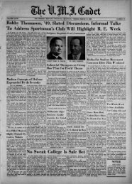 The Cadet. VMI Newspaper. March 10, 1958 - New Page 1 [www2 ...