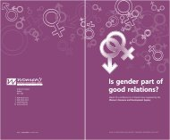 Is gender part of good relations? Is g goo - CAIN