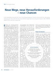 Neue Wege, neue Herausforderungen – neue Chancen