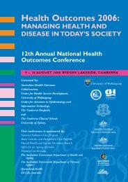 Conference program - Australian Health Services Research Institute ...