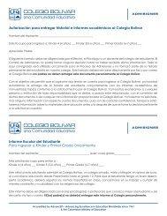Informe para Colegios para aplicación a grados ... - Colegio Bolivar