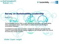 Survey on Sustainability Leadership - GlobeScan
