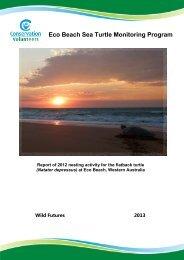 2012 Report - Sea Turtles - Conservation Volunteers Australia