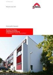Innovativ bauen Runkel Hochbau Objektbeschreibung