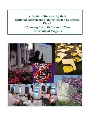 Choosing Your Retirement Plan ORPHE - UVA Human Resources