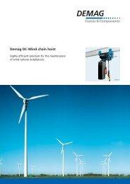 DC-Wind_brochure (PDF | 491 KB ) - Demag Cranes & Components