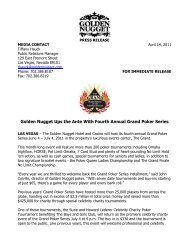 Golden Nugget Ups the Ante With Fourth Annual Grand Poker Series