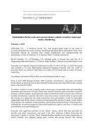US v. Connolly Press Release - Frank-CS.org