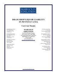 Liquor Liability - Margolis Edelstein